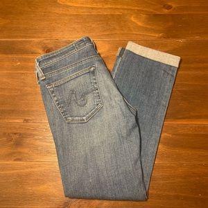 AG Stevie Roll Up medium wash jeans